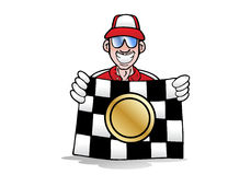 Winning race flag Stock Image