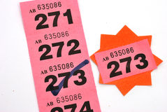 Winning raffle ticket Royalty Free Stock Images