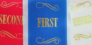 Winning ribbons Royalty Free Stock Images