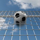 Winning shot. Full goalnet Stock Image