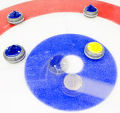 Winning shot at curling royalty free stock images