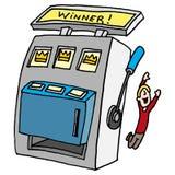 Winning slot machine Royalty Free Stock Photo
