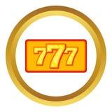 Winning slot machine vector icon Stock Photography
