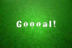 Winning soccer game goal word background Stock Image