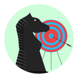 Winning strategy icon. Strategic achievement, vector illustration Stock Photography