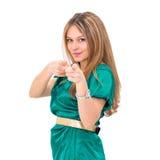 Winning success woman Stock Image
