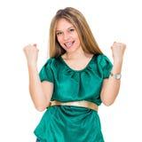 Winning success woman Royalty Free Stock Image