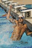 Winning Swimmer Stock Photo