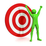 The winning target. Computer Rendered Graphic of a concept for perfect target Royalty Free Stock Images