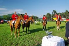 Winning team. In Nations Cup at CSIO2*-W & Balkan Tour, Piatra Neamt (Romania) 4-7 june 2009. Winners (Turkey team Royalty Free Stock Image