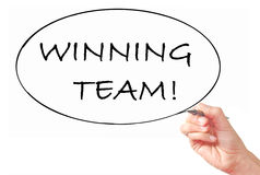 Winning team royalty free stock images