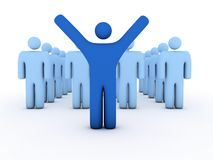 Winning team with leader in front Royalty Free Stock Image