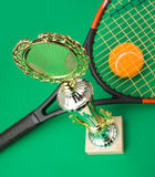 Winning tennis tournaments Stock Image