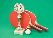 Winning tennis tournaments Stock Photography