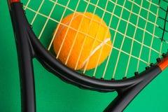 Winning tennis tournaments Stock Images