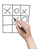 Winning tick-tack-toe game. Royalty Free Stock Photography
