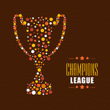Winning trophy for Cricket Champions League. Royalty Free Stock Images