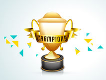 Winning trophy for Cricket. Royalty Free Stock Images