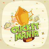 Winning trophy for Cricket Mania. Stock Photography