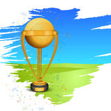 Winning Trophy for Cricket Sports concept. Royalty Free Stock Image