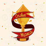 Winning trophy for Cricket Sports concept. Stock Photo