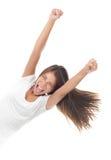 Winning woman stock image