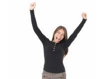 Winning woman Royalty Free Stock Photo