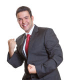 Winning young hispanic businessman Royalty Free Stock Photos