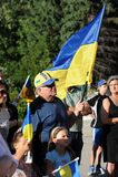 Winnipeg ουκρανικές κοινοτικές συναθροίσεις για το φυλακισμένο παραγωγό ταινιών στοκ εικόνες με δικαίωμα ελεύθερης χρήσης