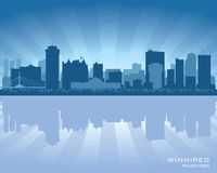 Winnipeg, Canada skyline silhouette city. Background vector illustration Royalty Free Stock Image
