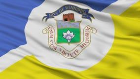 Winnipeg Fair City Flag, Canada, Closeup View. Winnipeg Fair City Flag, Country Canada, Closeup View stock illustration