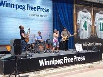 Winnipeg Goldeyes παιχνίδι μπέιζ-μπώλ Στοκ Εικόνες