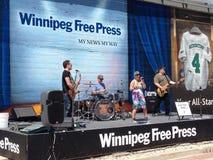 Winnipeg Goldeyes baseball game Royalty Free Stock Photo