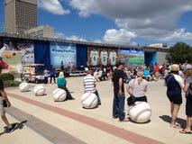 Winnipeg Goldeyes baseballa gra obrazy royalty free