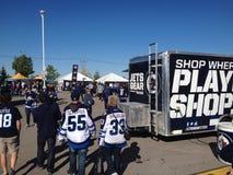 Winnipeg Jets fan fest Royalty Free Stock Photography