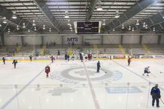 Winnipeg Jets training camp Royalty Free Stock Photo