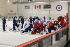 Winnipeg Jets training camp Royalty Free Stock Photos