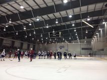 Winnipeg Jets training camp Stock Photos