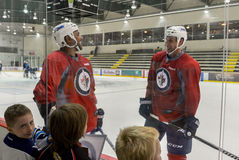 Winnipeg Jets training camp Stock Photo