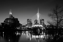 Winnipeg linia horyzontu Obrazy Royalty Free