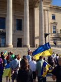 Winnipeg's Ukrainian community rallies Royalty Free Stock Photography