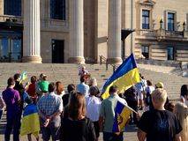 Winnipeg's Ukrainian community rallies Royalty Free Stock Photo