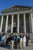 Winnipeg's Ukrainian community rallies for jailed filmmaker Royalty Free Stock Photos