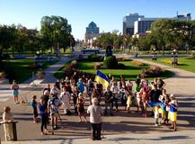 Winnipeg's Ukrainian community rallies for jailed filmmaker Royalty Free Stock Photo