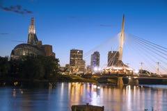Winnipeg-Skyline Lizenzfreies Stockbild