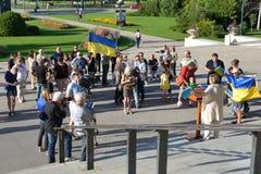 Winnipeg społeczności Ukraińscy wiece dla więziącego filmowa Zdjęcia Stock