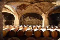 Wino baryłki przy wytwórnią win Santa Rita Fotografia Stock