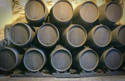 Wino baryłki Zdjęcia Stock