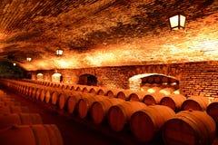 Wino baryłki przy wytwórnii win ` Concho y Tor ` Obraz Stock