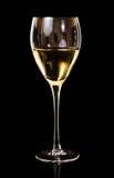 Wino, A biały wino szkło Obraz Royalty Free